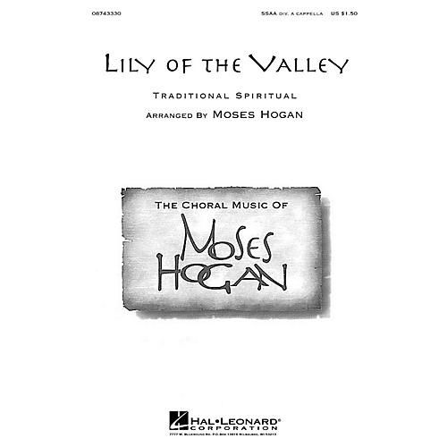Hal Leonard Lily of the Valley SSAA Div A Cappella arranged by Moses Hogan