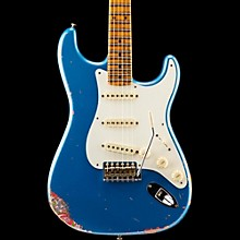 Limited Edition 1957 Heavy Relic Stratocaster Electric Guitar, Maple Lake Placid Blue over Pink Paisley