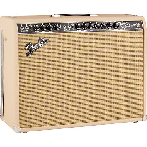 Fender Limited Edition British Tan '65 Twin Reverb 85W 2x12 Tube Guitar Combo Amp