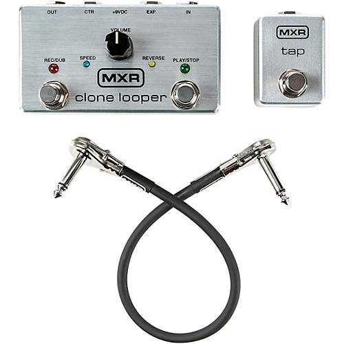 MXR Limited-Edition Clone Looper Effects Pedal Bundle with Tap Tempo Switch and Patch Cable