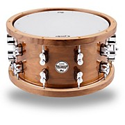 Limited Edition Dark Stain Walnut and Maple Snare with Walnut Hoops and Chrome Hardware 14 x 7.5 in.
