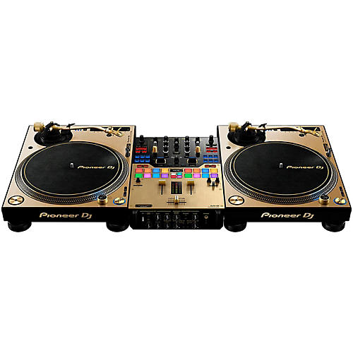 pioneer limited edition gold plx 1000 and djm s9 dj system guitar center. Black Bedroom Furniture Sets. Home Design Ideas