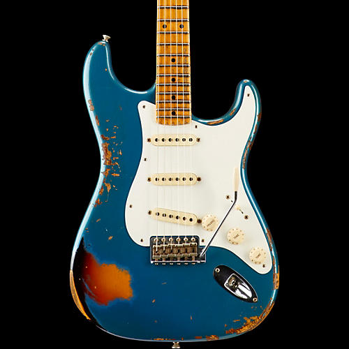 Fender Custom Shop Limited Edition Mischief Maker Heavy Relic - Aged Lake Placid Blue over 3-Color Sunburst