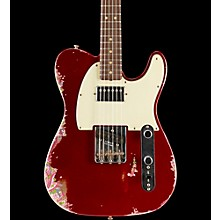 Limited Edtion 60s H/S Relic Tele Aged Candy Apple Red over Pink Paisley