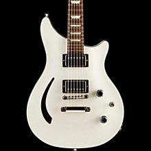 Limited Run Modern Double Cut Standard Semi Hollow Electric Guitar Pearl White
