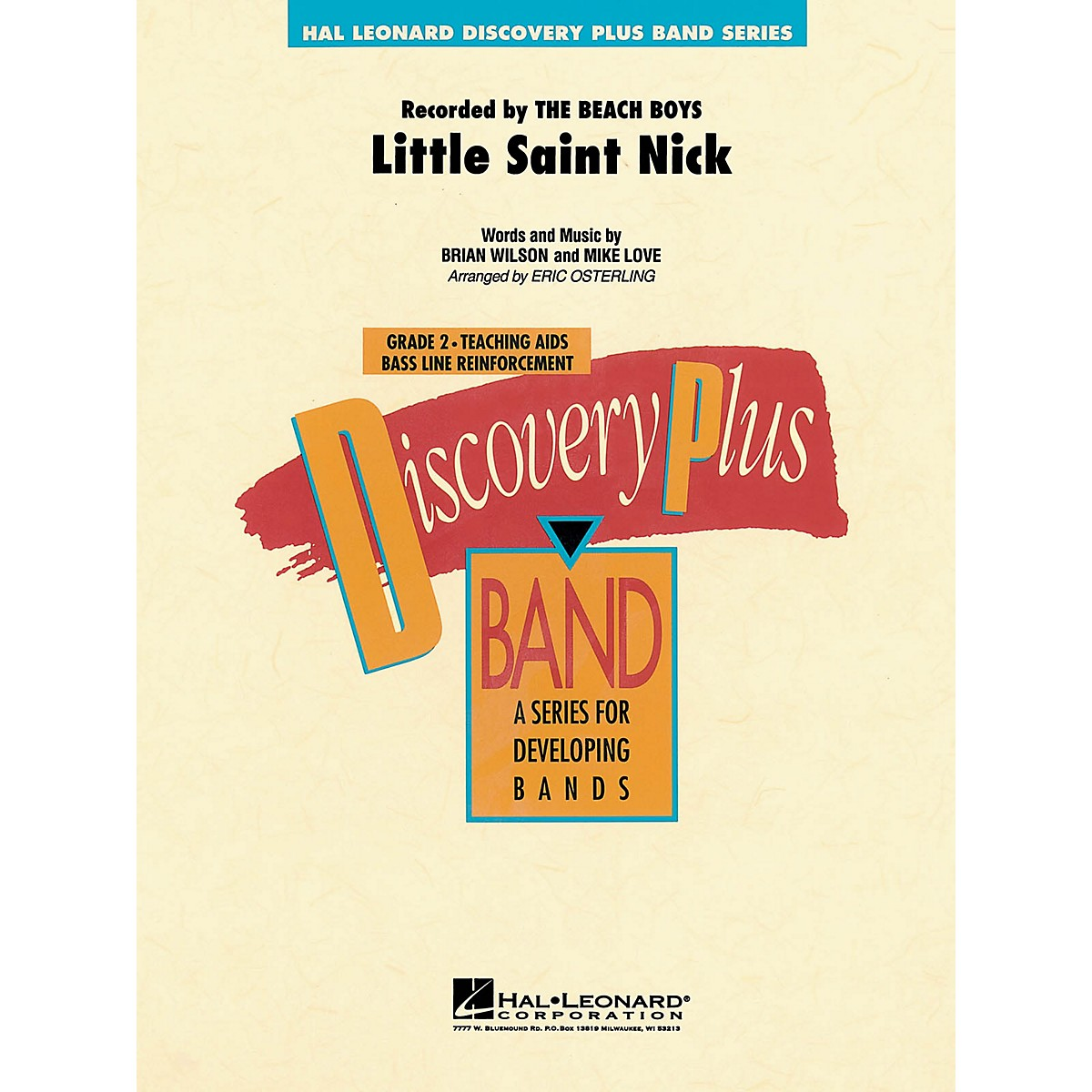 Hal Leonard Little Saint Nick - Discovery Plus Concert Band Series Level 2 arranged by Eric Osterling