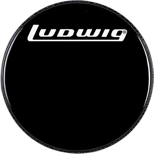 ludwig logo resonance bass drum head black 24 in guitar center. Black Bedroom Furniture Sets. Home Design Ideas