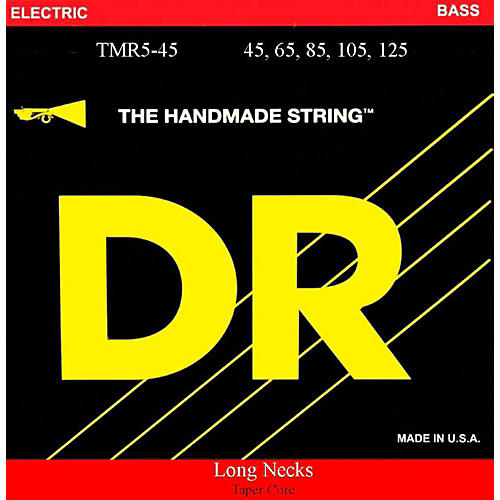 DR Strings Long Necks Taper Core Medium 5-String Bass Strings