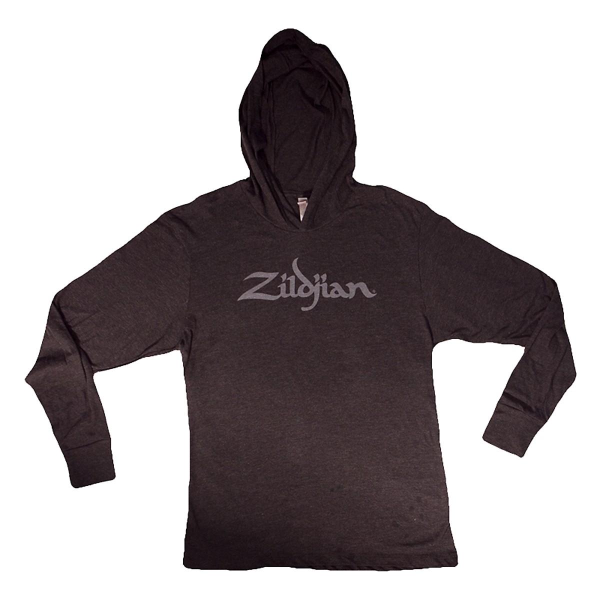 Zildjian Long Sleeve Hooded Shirt, Black