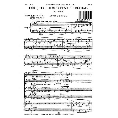 Novello Lord, Thou Hast Been Our Refuge SATB Composed by Edward Bairstow