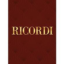 Ricordi Loreley (Vocal Score) Vocal Series Composed by Alfredo Catalani