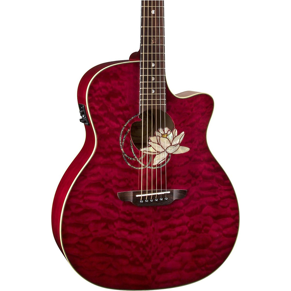 Luna Guitars Lotus Quilted Maple Acoustic-Electric Guitar