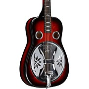 Lotus Squareneck Acoustic-Electric Resonator Guitar Scarlet Burst