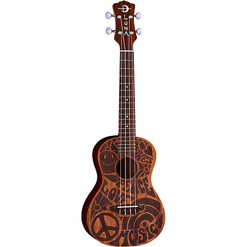 Luna Guitars Love Music Peace Concert Ukulele