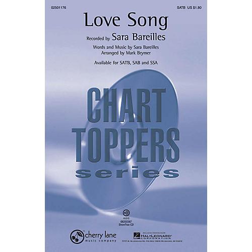 Cherry Lane Love Song SATB by Sara Bareilles arranged by Mark Brymer