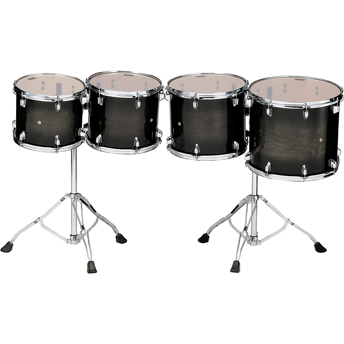 TAMA Low-Pitched Concert Tom Set With Stands (Double-Headed)
