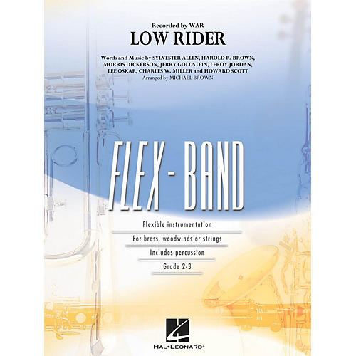 Hal Leonard Low Rider Concert Band Level 2-3 by War Arranged by Michael Brown