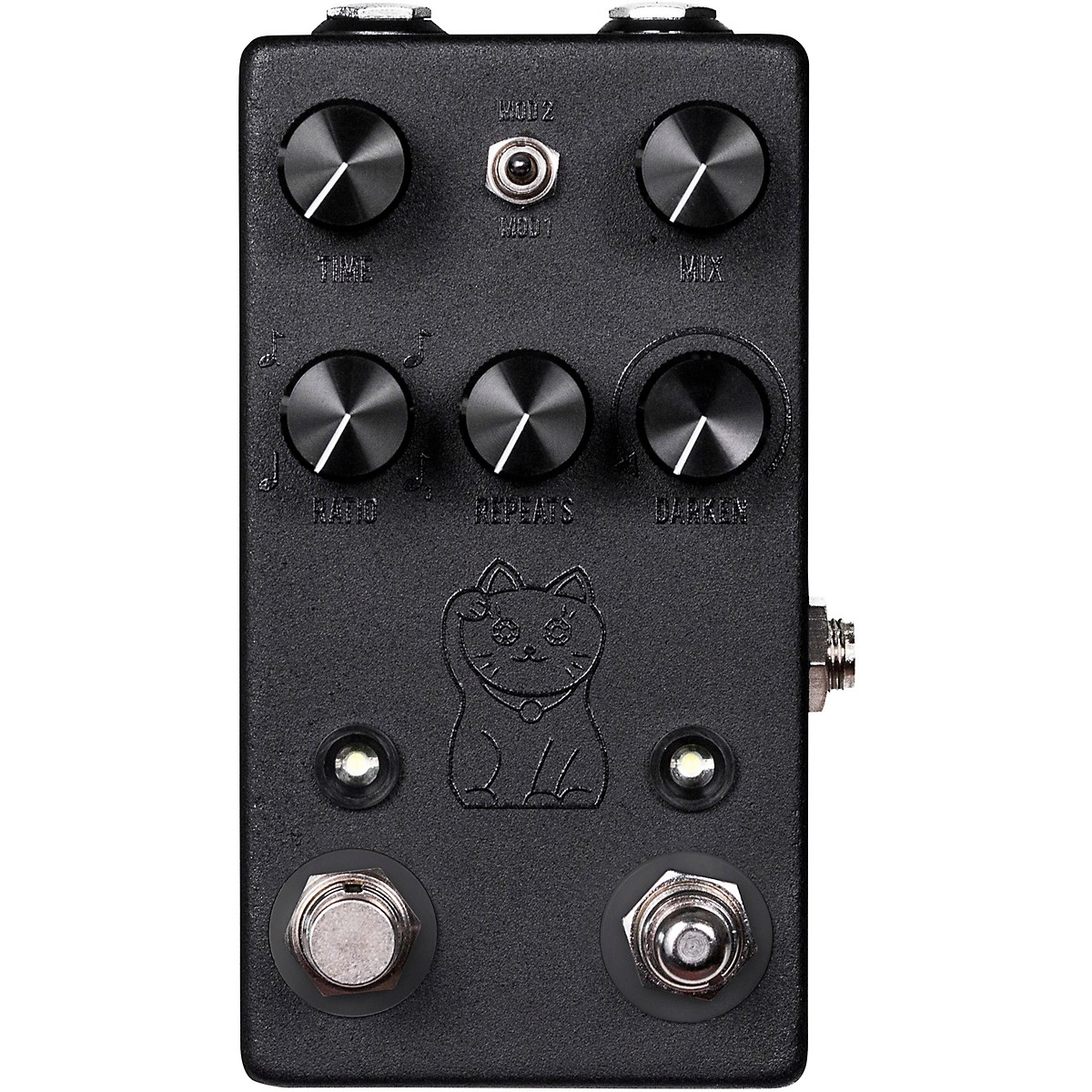 JHS Pedals Lucky Cat Delay Effects Pedal - Black