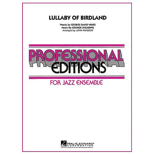 Hal Leonard Lullaby of Birdland Jazz Band Level 5 Arranged by John Wasson