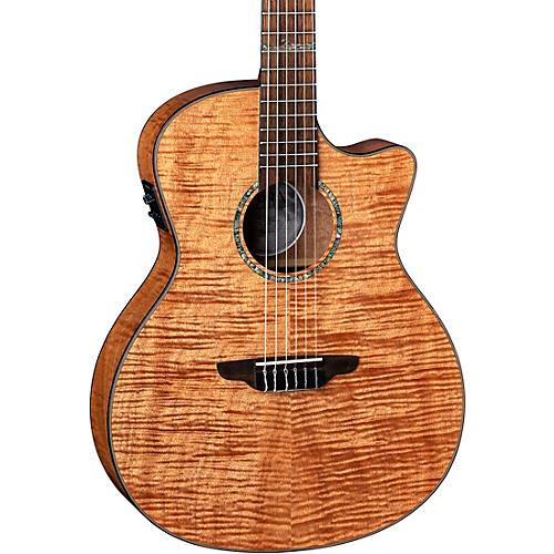 Luna Guitars Luna Guitars High Tide Exotic Mahogany Nylon String Acoustic/Electric Grand Concert Cutaway Guitar