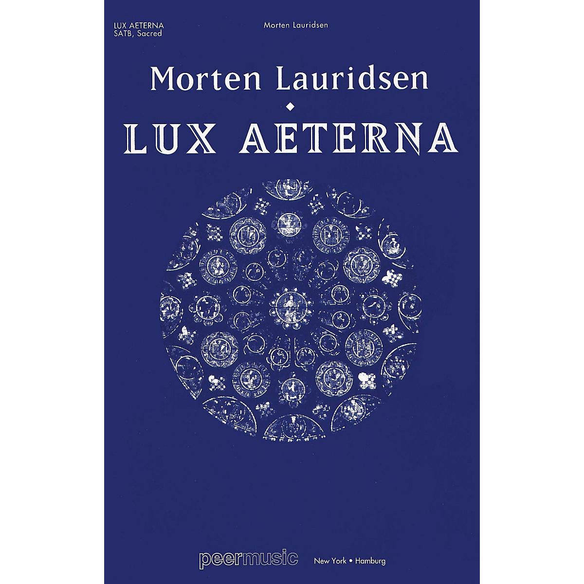Peer Music Lux Aeterna (SATB Vocal Score) SATB Score Composed by Morten Lauridsen