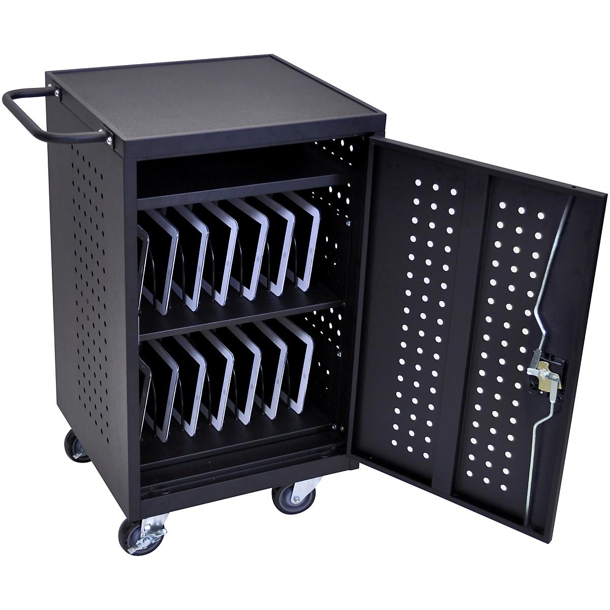 H. Wilson Luxor LLTM30-B 30 Tablet Charging Cart