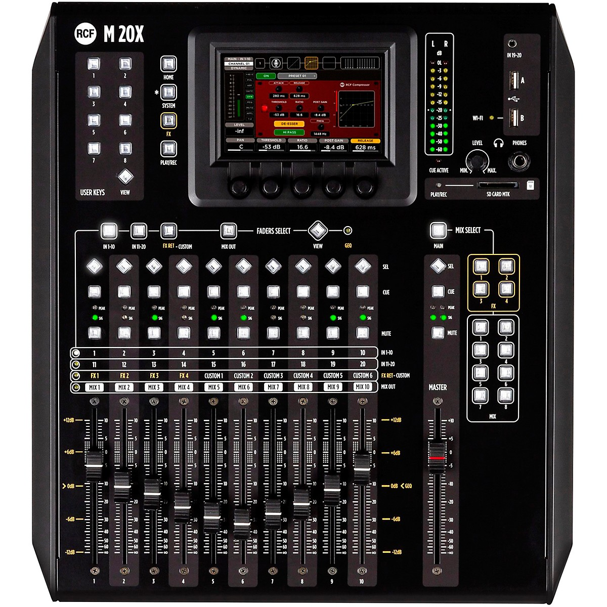 RCF M 20X 20-Channel Digital Mixer