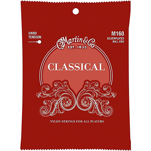 Martin M160 Classical Hard Tension Silverplated, Ball Ended Strings