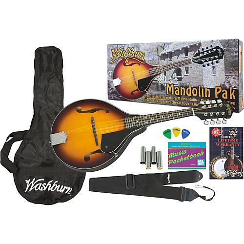Washburn M1S Solid Top Mandolin Pack