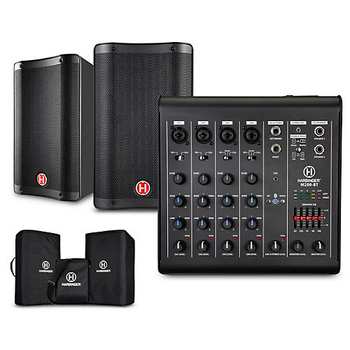 Harbinger M200-BT Portable PA with Bluetooth and Custom Carry Bags