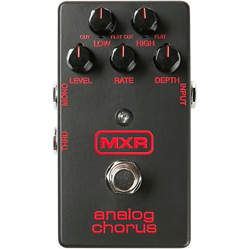 MXR M234BK Matte Black Analog Chorus Effects Pedal