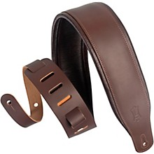 M26PD 3 inch Wide Top Grain Leather Guitar Straps Dark Brown