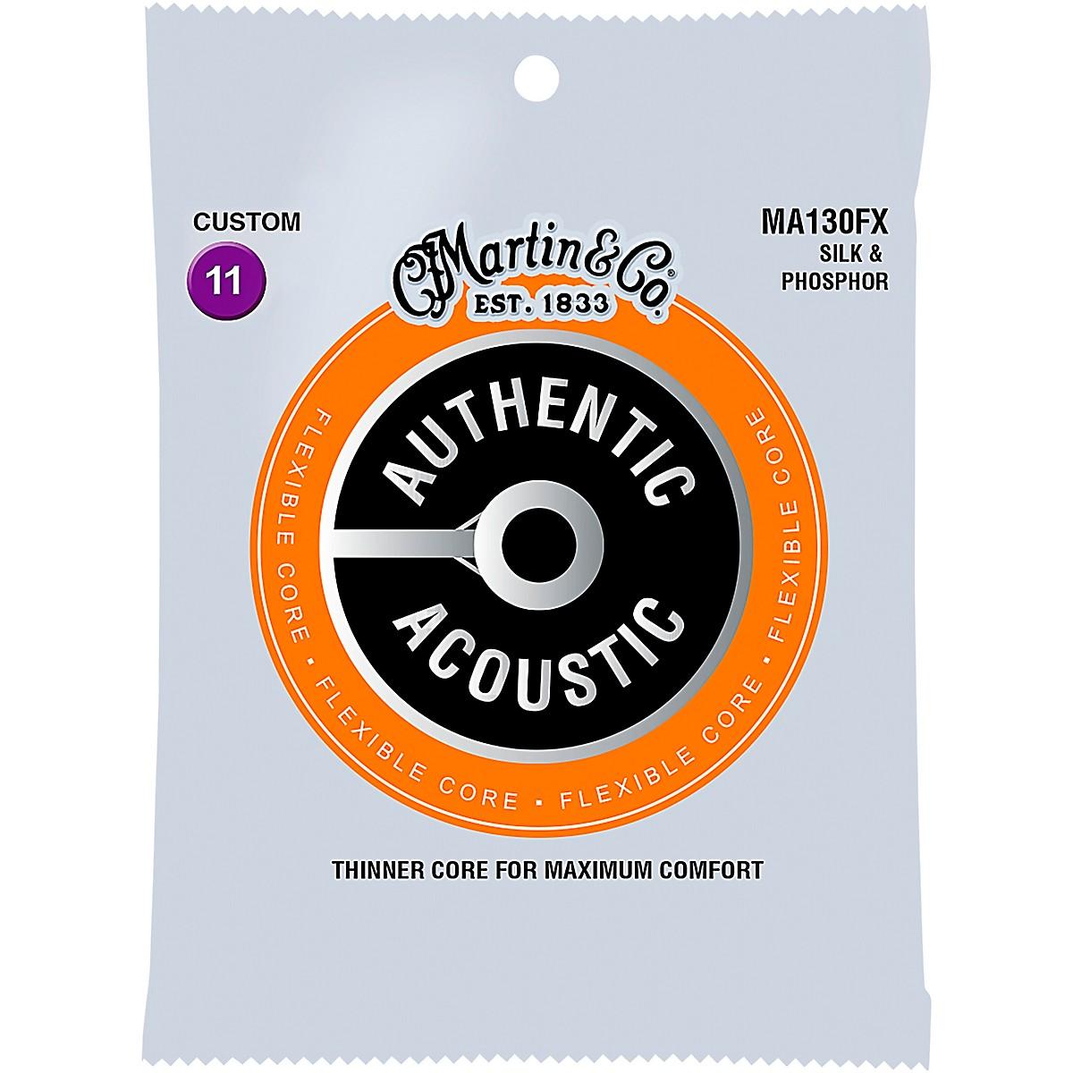 Martin MA130FX Authentic Acoustic - Flexible Core Silk and Phosphor Custom Guitar Strings