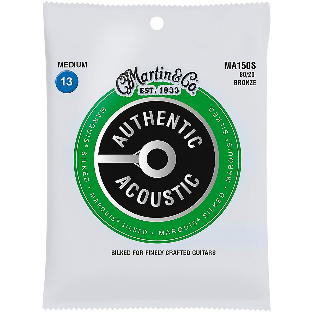 Martin MA150S Marquis 80/20 Bronze Medium Authentic Acoustic Silked Guitar Strings