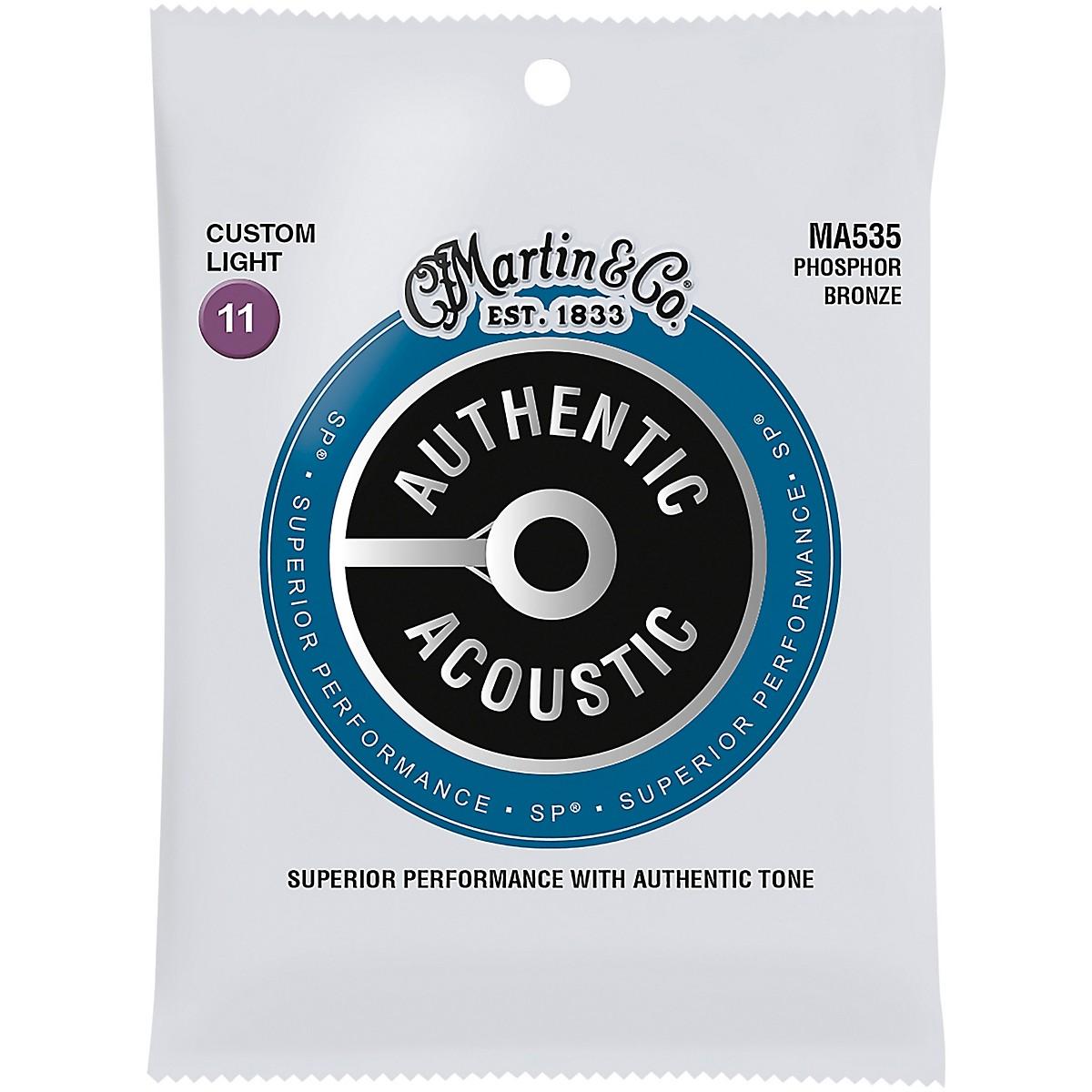 Martin MA535 Authentic Acoustic Phosphor Bronze Custom-Light Guitar Strings