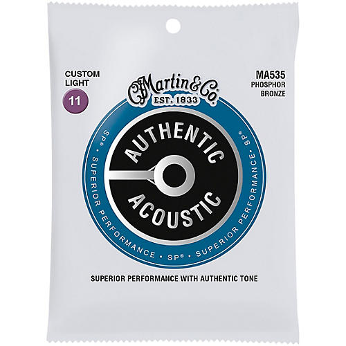 Martin MA535S Authentic Acoustic Phosphor Bronze Custom-Light Guitar Strings