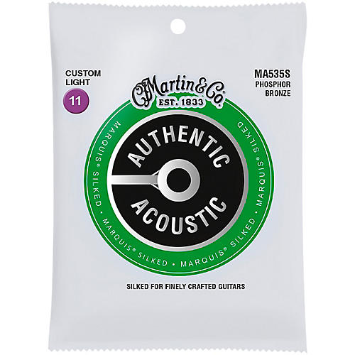 Martin MA535S Marquis Phosphor Bronze Custom-Light Authentic Silked Acoustic Guitar Strings