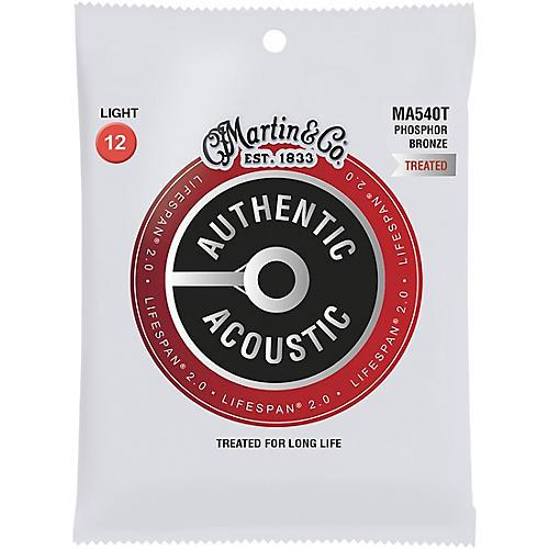Martin MA540T Lifespan 2.0 Phosphor Bronze Light Authentic Acoustic Guitar Strings