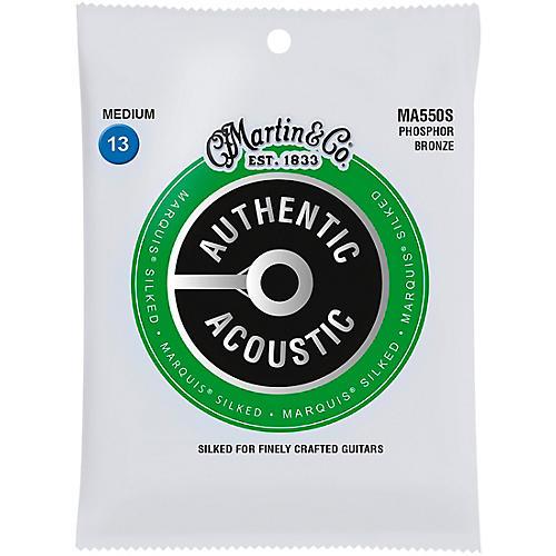 Martin MA550S Marquis Phosphor Bronze Medium Authentic Silked Acoustic Guitar Strings