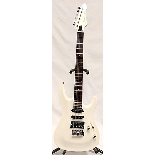 used aria mac series solid body electric guitar pearl white guitar center. Black Bedroom Furniture Sets. Home Design Ideas
