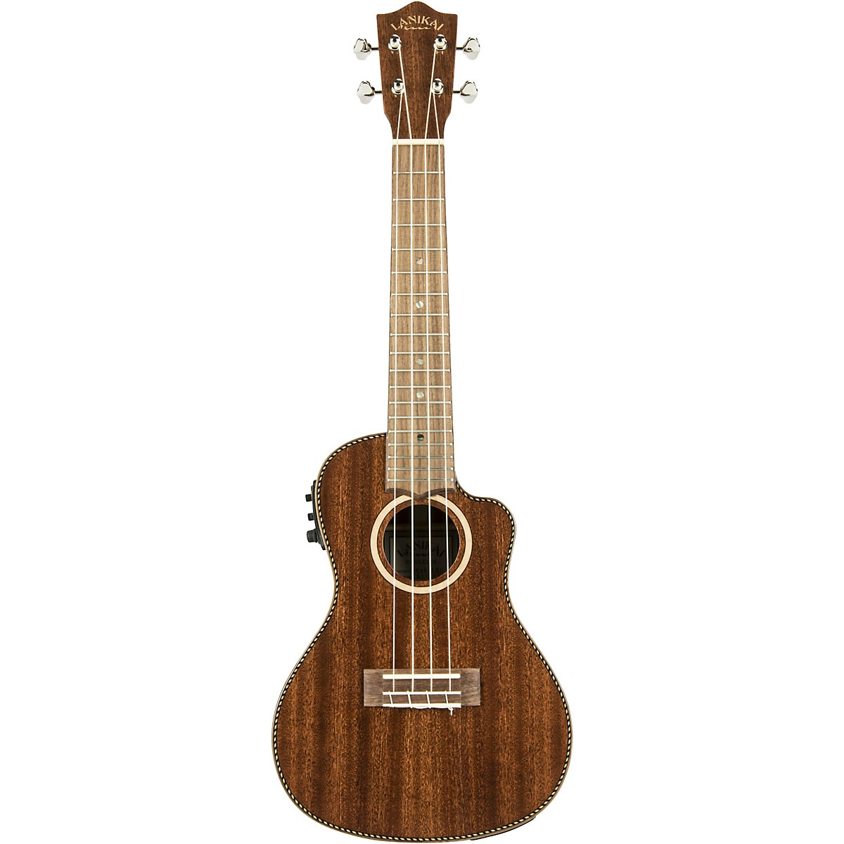 Lanikai MAS-CEC All Solid Mahogany Concert with Kula Preamp Acoustic-Electric Ukulele