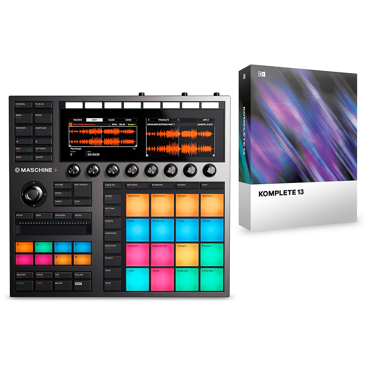 Native Instruments MASCHINE+ with KOMPLETE 13