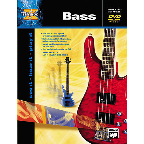 Alfred MAX Series Bass Instruction (Book/DVD)