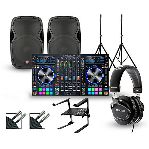 Denon MC7000 with Harbinger V1015 DJ Package