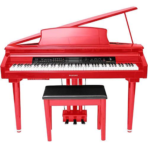Suzuki Mdg Micro Grand Digital Piano Soft Red Red