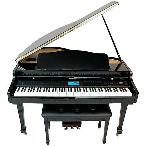 Suzuki mdg 400 baby grand digital piano guitar center for How much space does a baby grand piano need