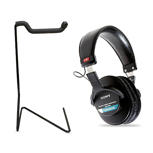 sony mdr 7506 professional closed back headphones with free stand guitar center. Black Bedroom Furniture Sets. Home Design Ideas