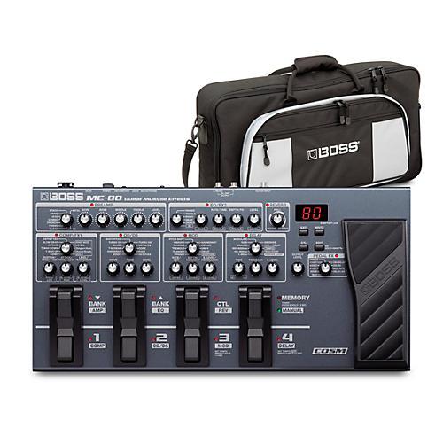 Boss ME-80 Guitar Multi-Effects Pedal and L2 Bag Bundle