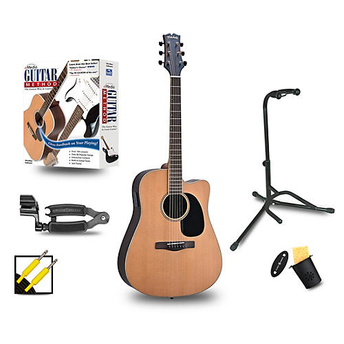 Mitchell ME2CEC Dreadnought Cutaway Acoustic-Electric Standard Package