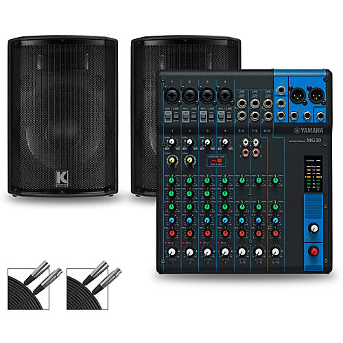 yamaha mg10 mixer and kustom hipac speakers guitar center. Black Bedroom Furniture Sets. Home Design Ideas